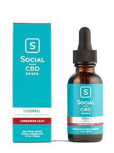 Cinnamon Leaf Broad Spectrum CBD Drops Social CBD Review