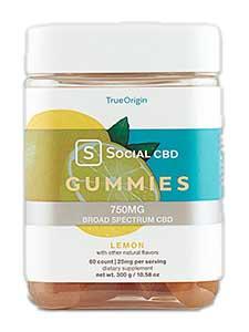 Lemon Broad Spectrum CBD Gummies