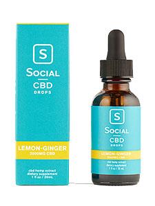 Lemon Ginger Isolate CBD Oil Drops Social CBD Review
