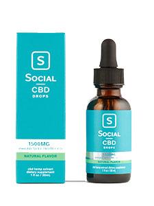 Natural-Flavor Broad Spectrum CBD Drops Social CBD Review