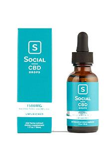 Unflavored Broad Spectrum CBD Drops Social CBD Review