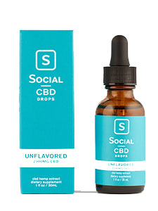 Unflavored Isolate CBD Oil Drops Social CBD Review