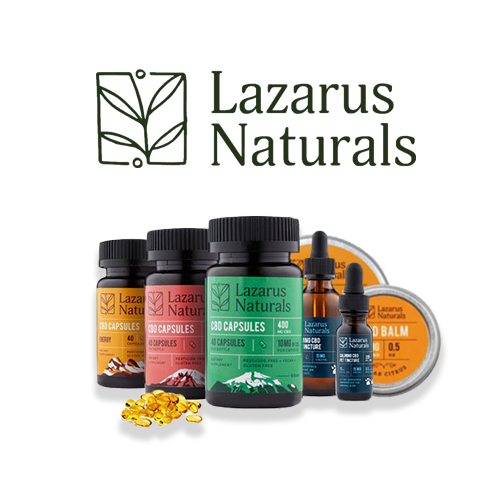 lazarusnatural product showcase for St. Patrick's Day CBD Sales